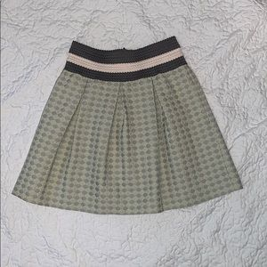 Anthropologie patterned high waisted mini skirt
